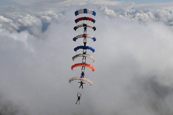 Самые сложные фигуры парашютизма - фото экстремального вида спорта - №3