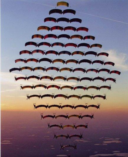 Самые сложные фигуры парашютизма - фото экстремального вида спорта - №4
