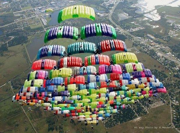 Самые сложные фигуры парашютизма - фото экстремального вида спорта - №5
