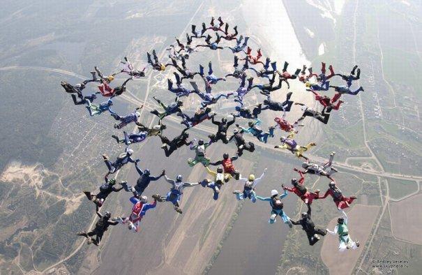Самые сложные фигуры парашютизма - фото экстремального вида спорта - №7