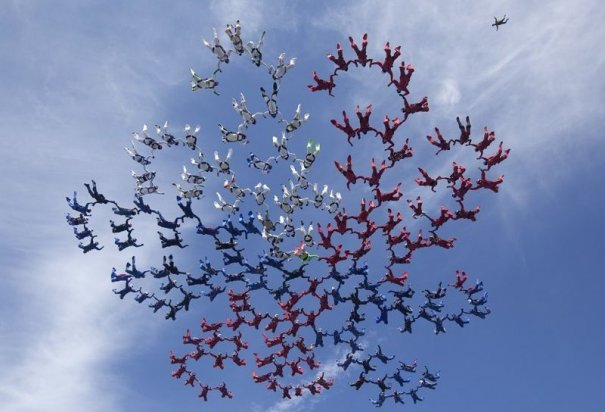 Самые сложные фигуры парашютизма - фото экстремального вида спорта - №8