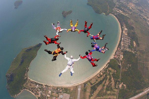 Самые сложные фигуры парашютизма - фото экстремального вида спорта - №9