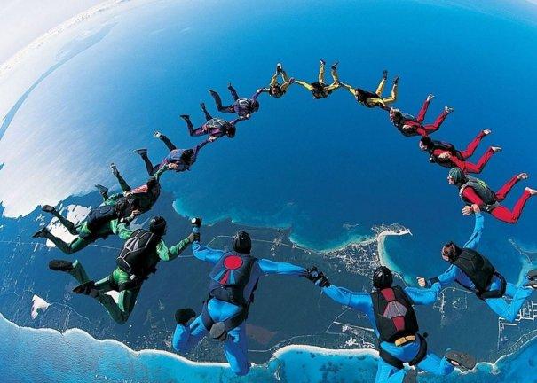 Самые сложные фигуры парашютизма - фото экстремального вида спорта - №10