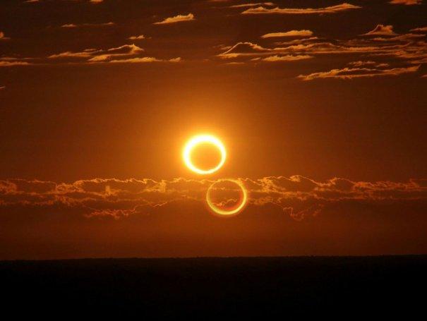 Красивейшие фото солнечного затмения - №1