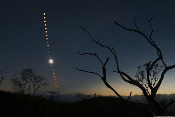 Красивейшие фото солнечного затмения - №4