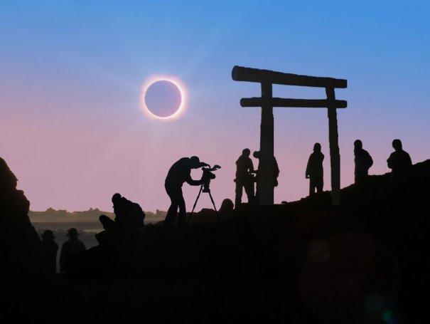 смотреть солнечное затмение
