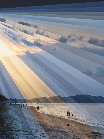 Коллажи из фото пейзажей - №3