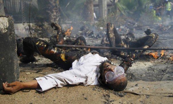 Новости в фотографиях - в Египте введено чрезвычайное положение - №17