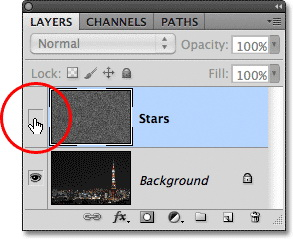 Урок Фотошопа. Эффект звездного неба - №16