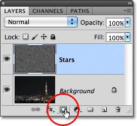 Урок Фотошопа. Эффект звездного неба - №17