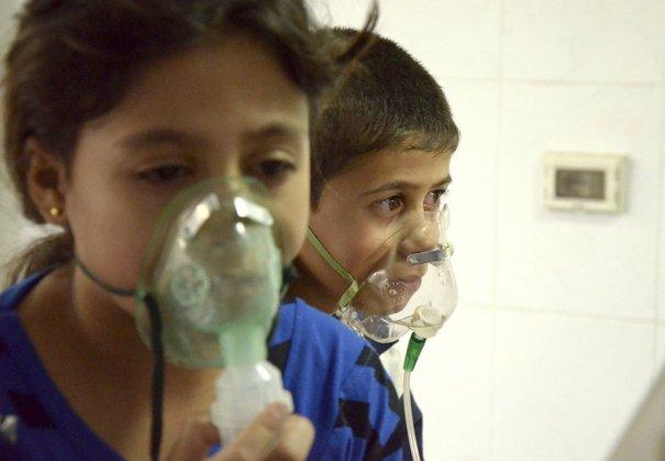 Новости в фотографиях - Газовая атака в Сирии - №1