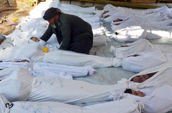 Новости в фотографиях - Газовая атака в Сирии - №2