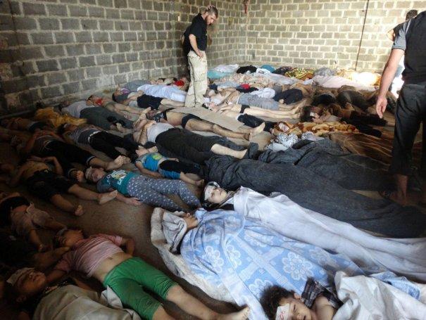 Новости в фотографиях - Газовая атака в Сирии - №3