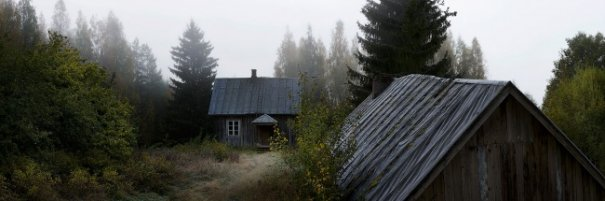 Интересные фото заброшенных лесных домиков - №1