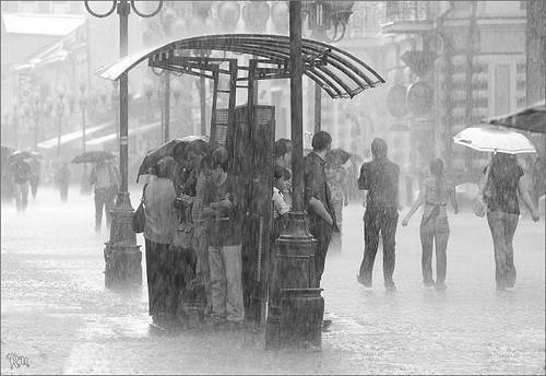 Люди под дождем - красиво и актуально для осенних фото - №2