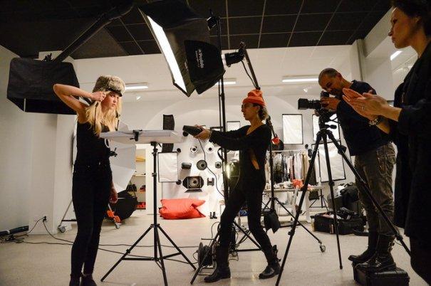 съемка портрета фотографом в студии