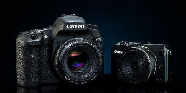 Фото камера Canon 7D против компакта Canon M в студийном тесте - №1