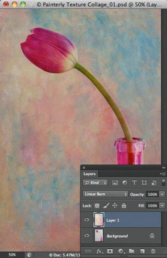 Урок Фотошопа. Цветок и живописная текстура - №5