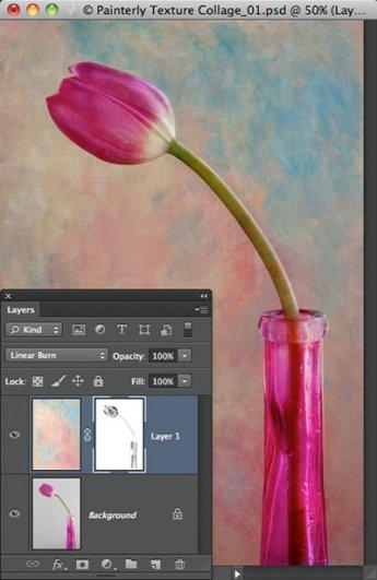 Урок Фотошопа. Цветок и живописная текстура - №6