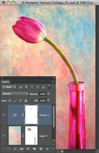 Урок Фотошопа. Цветок и живописная текстура - №8