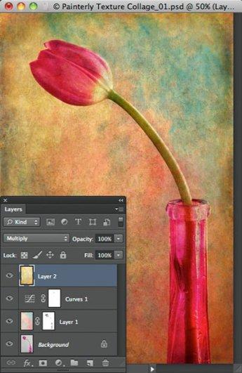 Урок Фотошопа. Цветок и живописная текстура - №11