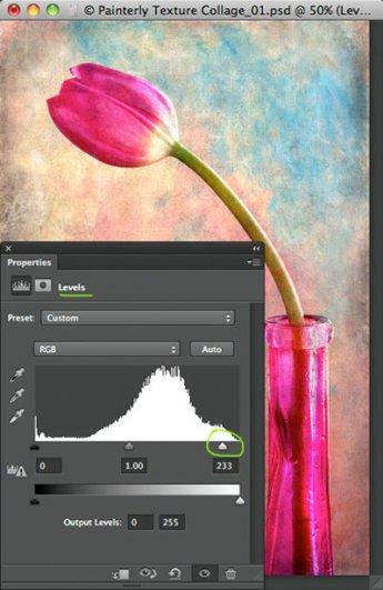Урок Фотошопа. Цветок и живописная текстура - №14