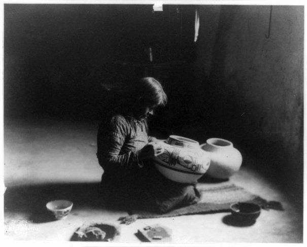 Эдвард Кертис, фотографирует индейцев. - №11