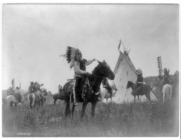 Эдвард Кертис, фотографирует индейцев. - №13