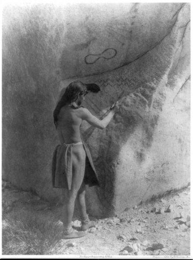 Эдвард Кертис, фотографирует индейцев. - №14