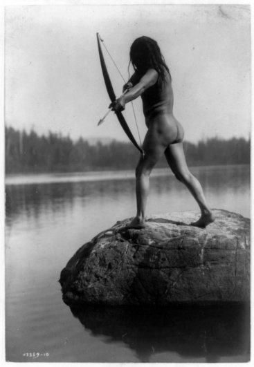 Эдвард Кертис, фотографирует индейцев. - №27