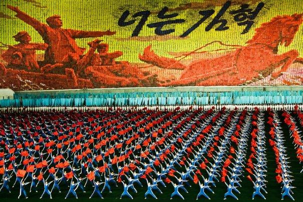 Новости в фотографиях - Танец 100 000 человек в Корее - №2