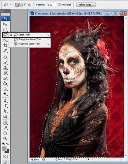 Урок Фотошопа. Портрет в стиле Хэллоуин - №3