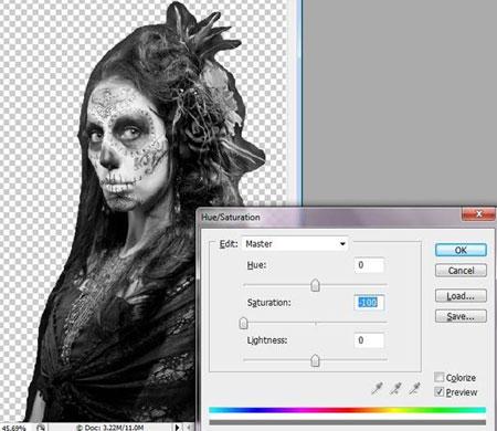 Урок Фотошопа. Портрет в стиле Хэллоуин - №6