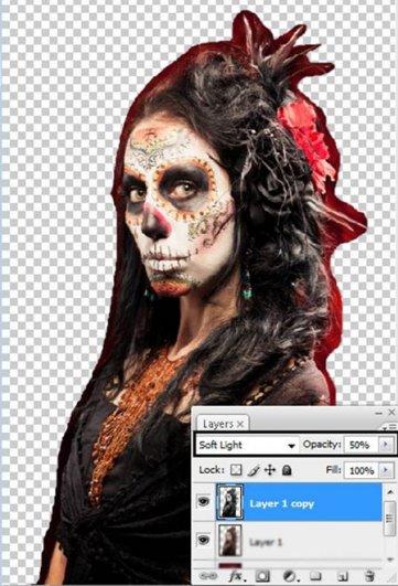 Урок Фотошопа. Портрет в стиле Хэллоуин - №7