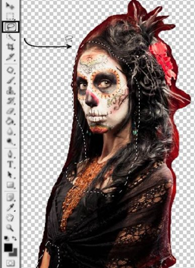 Урок Фотошопа. Портрет в стиле Хэллоуин - №8