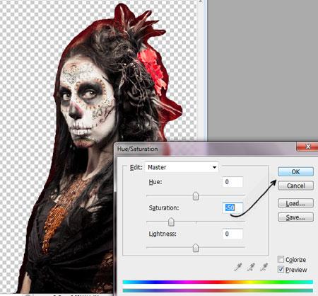 Урок Фотошопа. Портрет в стиле Хэллоуин - №9