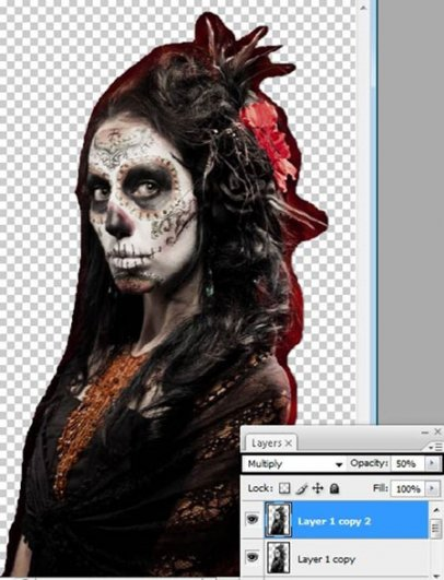 Урок Фотошопа. Портрет в стиле Хэллоуин - №10