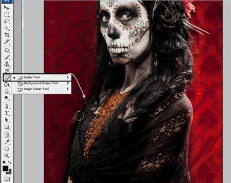 Урок Фотошопа. Портрет в стиле Хэллоуин - №12