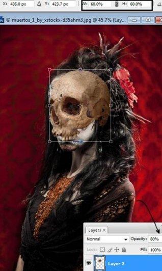 Урок Фотошопа. Портрет в стиле Хэллоуин - №14