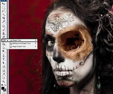 Урок Фотошопа. Портрет в стиле Хэллоуин - №15