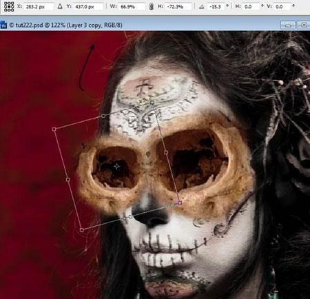Урок Фотошопа. Портрет в стиле Хэллоуин - №16