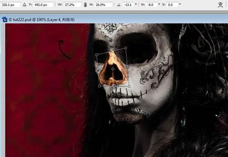Урок Фотошопа. Портрет в стиле Хэллоуин - №21
