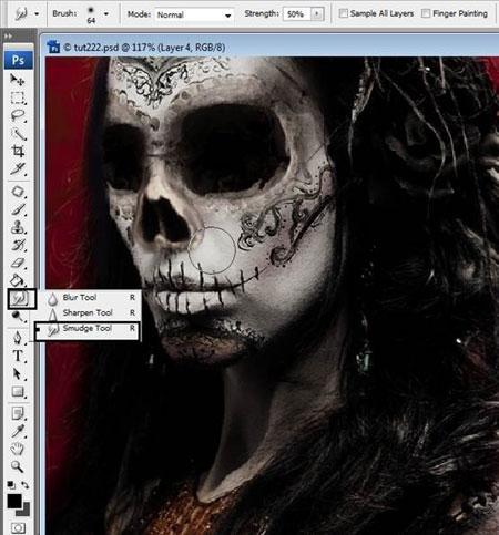 Урок Фотошопа. Портрет в стиле Хэллоуин - №24