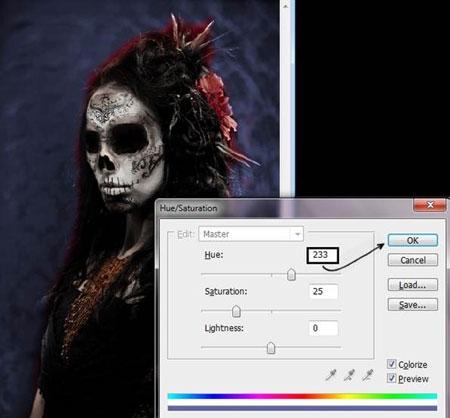 Урок Фотошопа. Портрет в стиле Хэллоуин - №25
