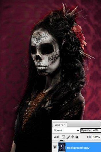 Урок Фотошопа. Портрет в стиле Хэллоуин - №26