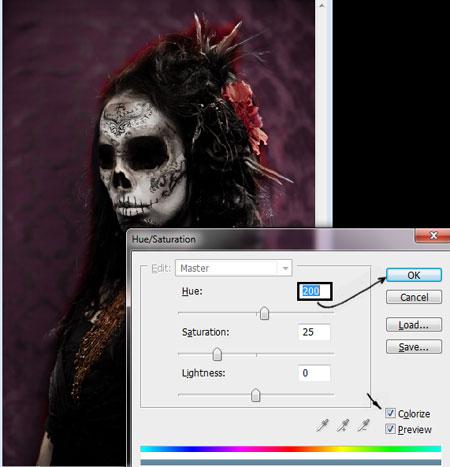 Урок Фотошопа. Портрет в стиле Хэллоуин - №27