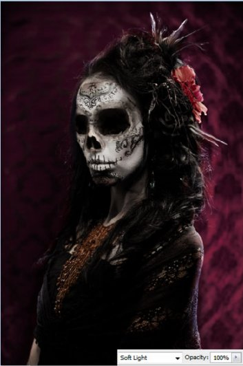 Урок Фотошопа. Портрет в стиле Хэллоуин - №28