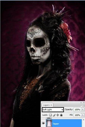 Урок Фотошопа. Портрет в стиле Хэллоуин - №31