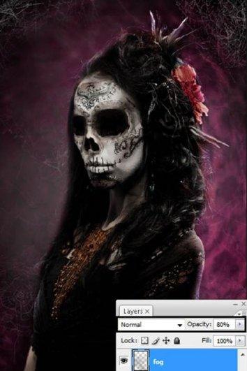 Урок Фотошопа. Портрет в стиле Хэллоуин - №33