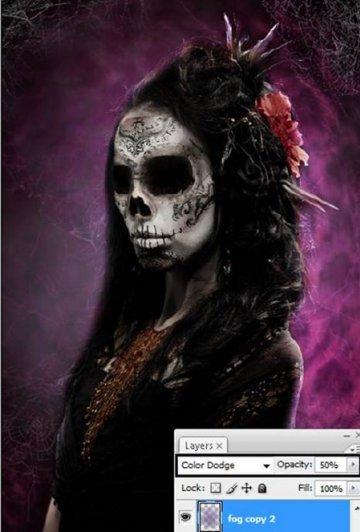 Урок Фотошопа. Портрет в стиле Хэллоуин - №34
